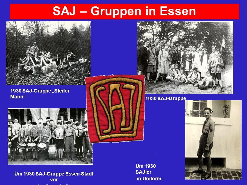 Um 1930 SAJ-Gruppe Essen-Stadt vor