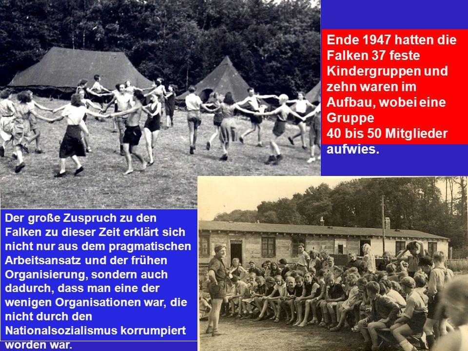 Ende 1947 hatten die Falken 37 feste