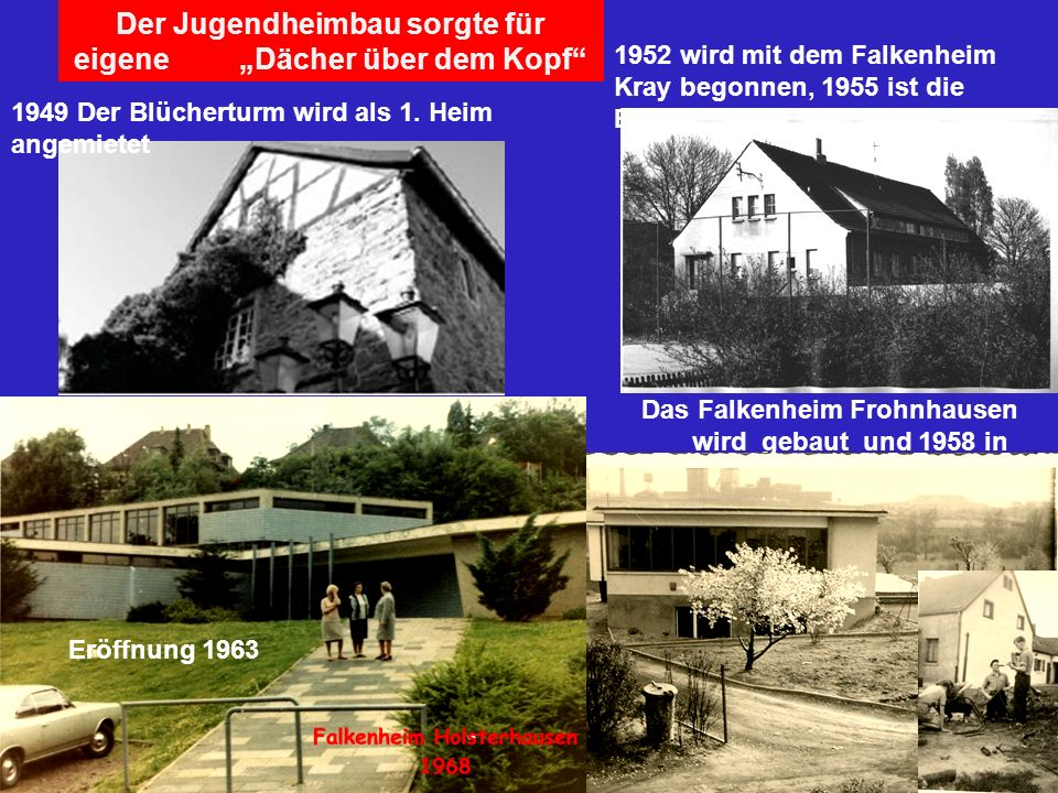 """Der Jugendheimbau sorgte für eigene """"Dächer über dem Kopf"""