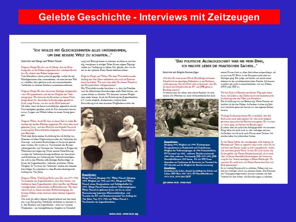 Gelebte Geschichte - Interviews mit Zeitzeugen