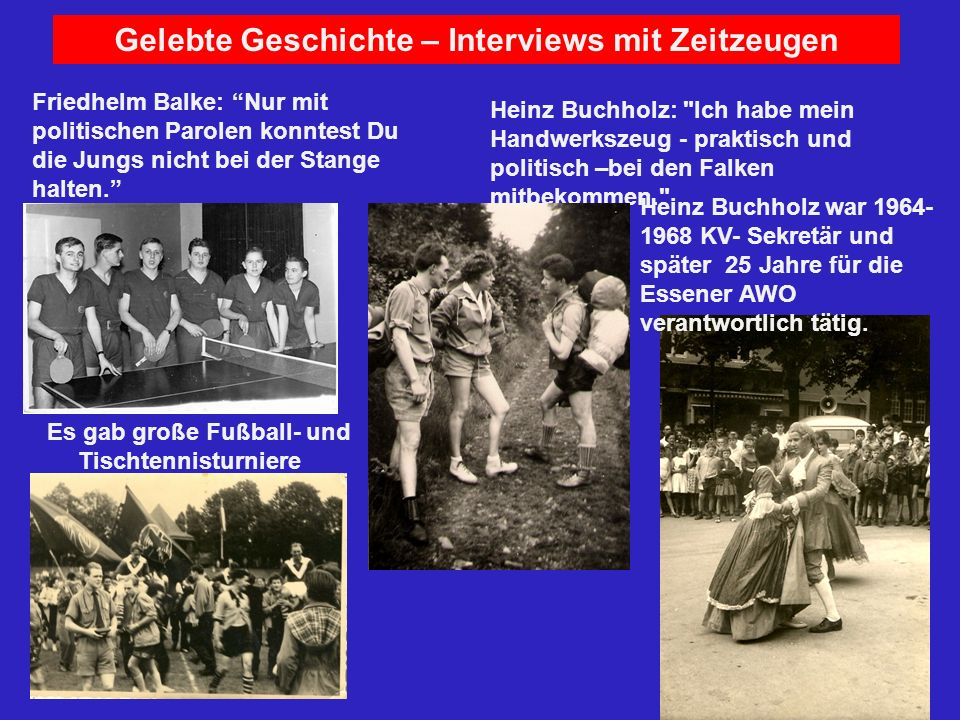 Gelebte Geschichte – Interviews mit Zeitzeugen