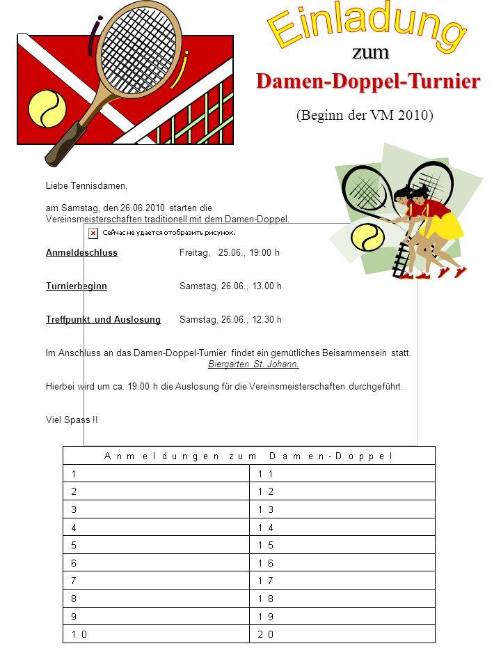 Damen-Doppel-Turnier