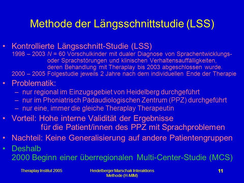 Methode der Längsschnittstudie (LSS)
