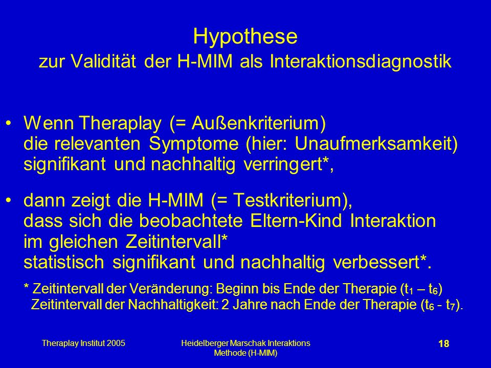 Hypothese zur Validität der H-MIM als Interaktionsdiagnostik
