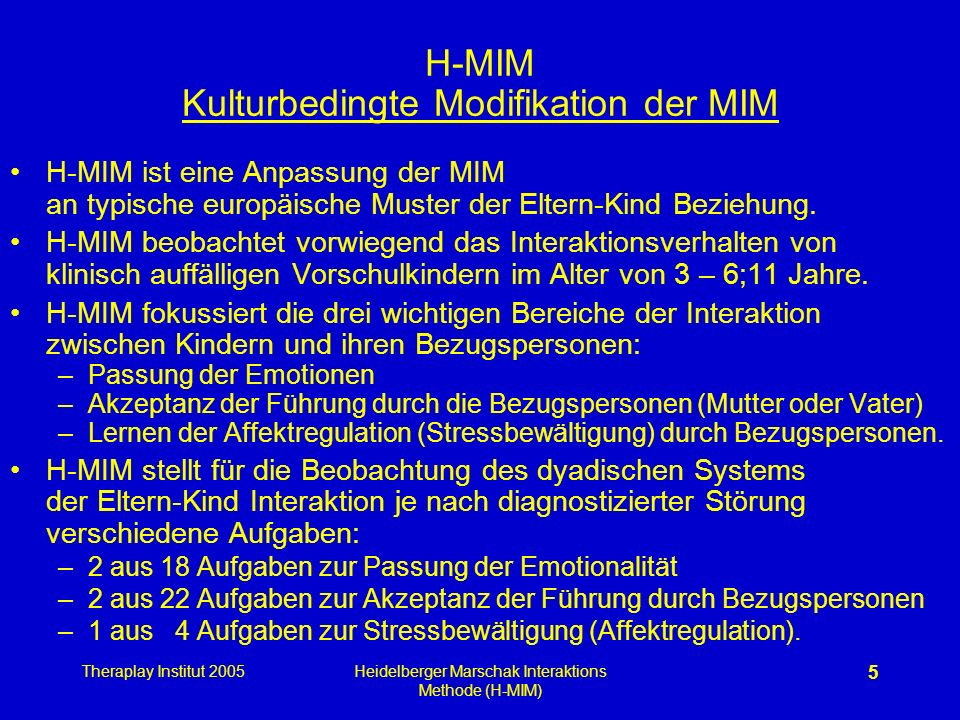 H-MIM Kulturbedingte Modifikation der MIM