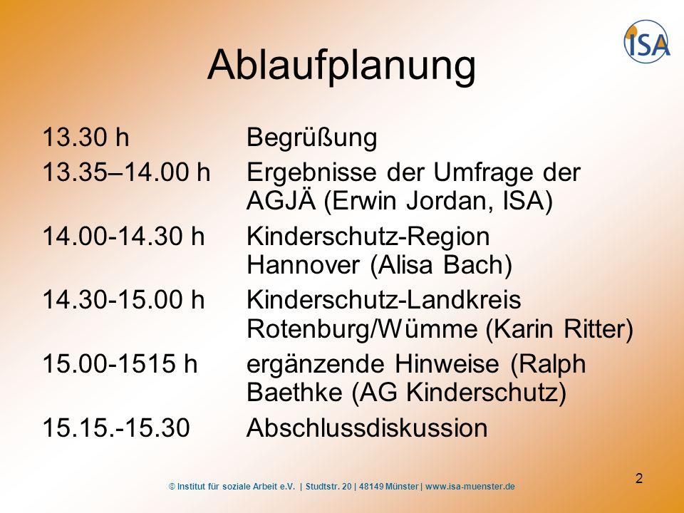 Ablaufplanung 13.30 h Begrüßung