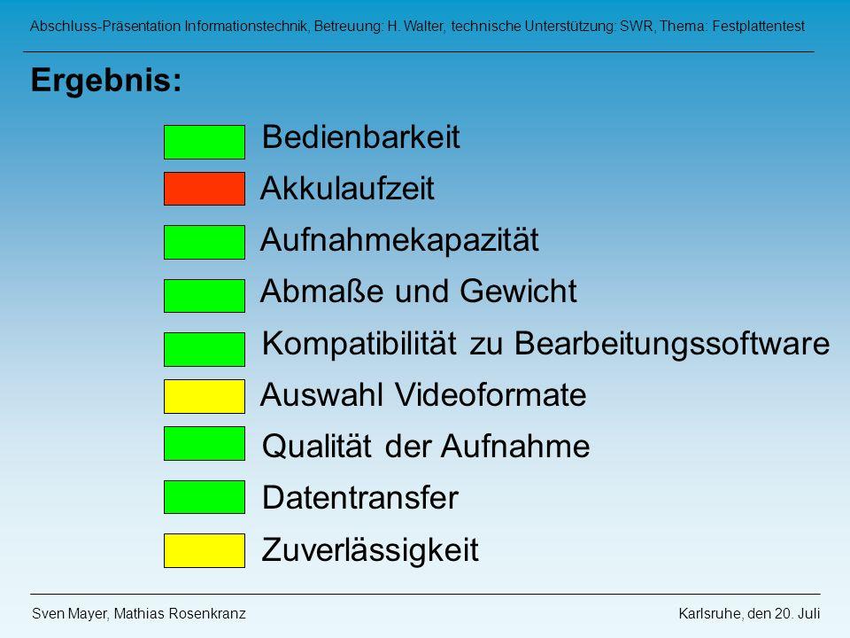 Kompatibilität zu Bearbeitungssoftware Auswahl Videoformate