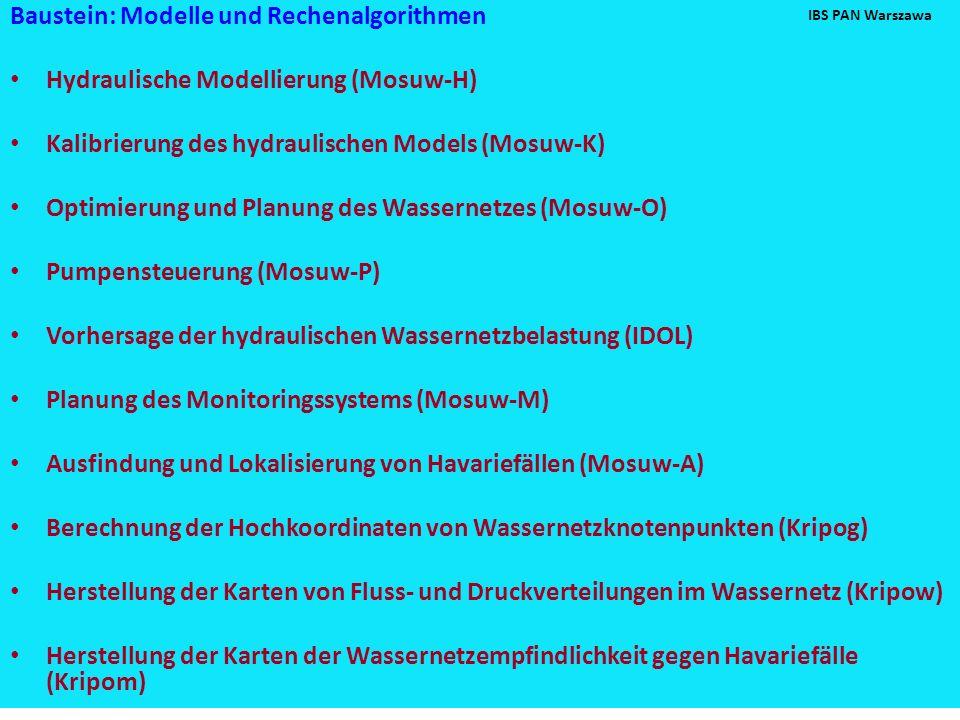 Baustein: Modelle und Rechenalgorithmen