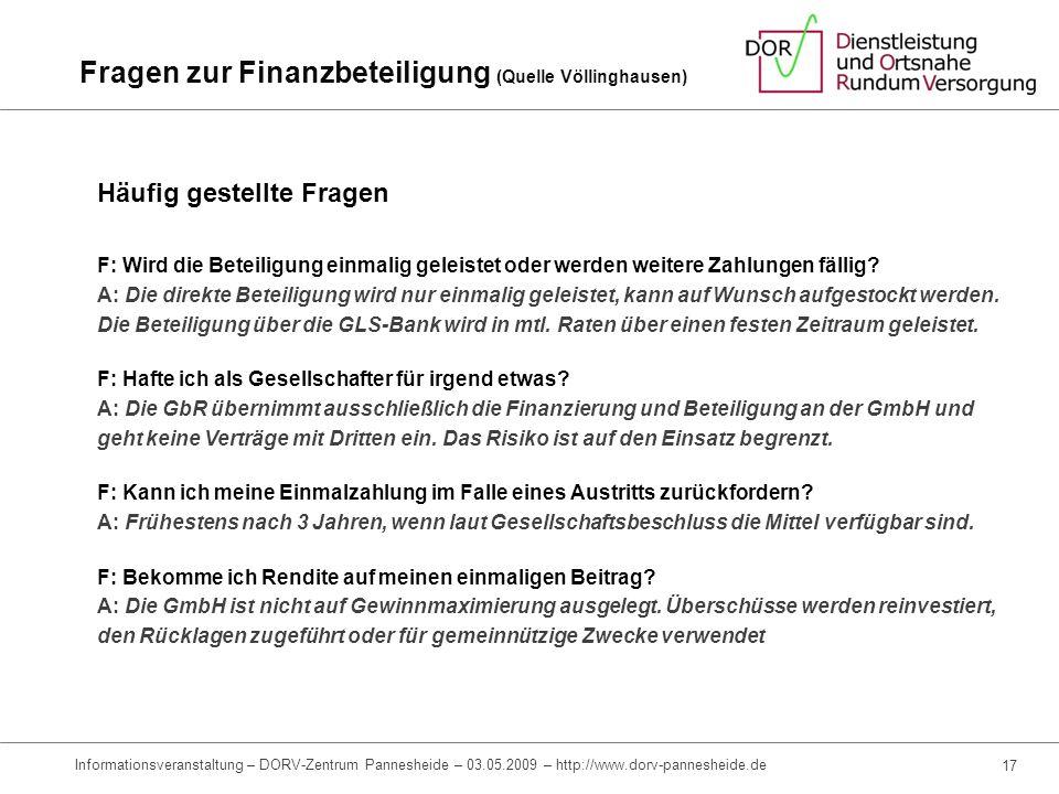 Fragen zur Finanzbeteiligung (Quelle Völlinghausen)