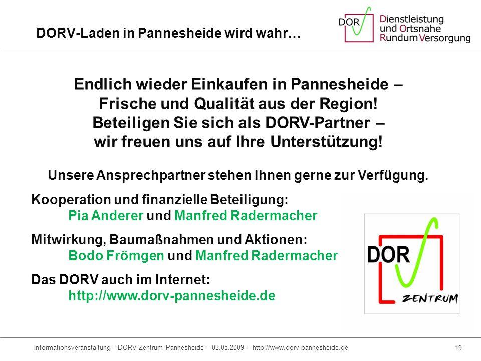 DORV-Laden in Pannesheide wird wahr…