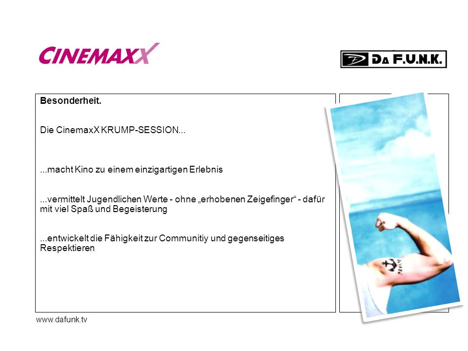 Die CinemaxX KRUMP-SESSION...