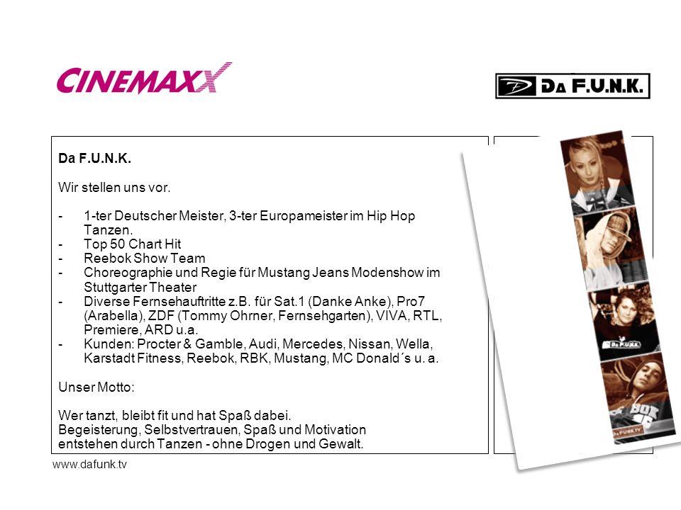 - 1-ter Deutscher Meister, 3-ter Europameister im Hip Hop Tanzen.