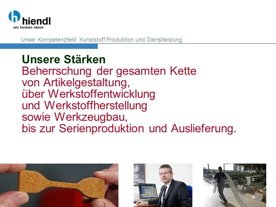 Unser Kompetenzfeld: Kunststoff Produktion und Dienstleistung