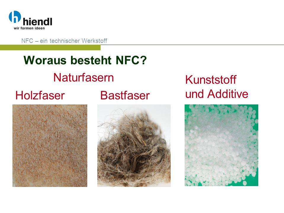 Woraus besteht NFC Naturfasern Kunststoff und Additive Holzfaser