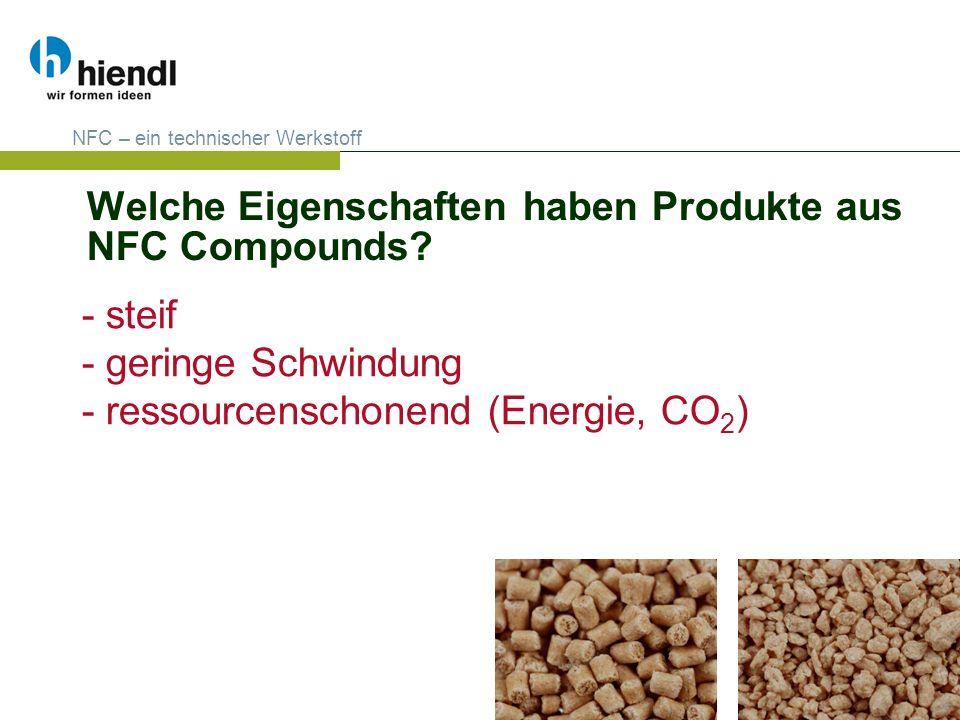 Welche Eigenschaften haben Produkte aus NFC Compounds