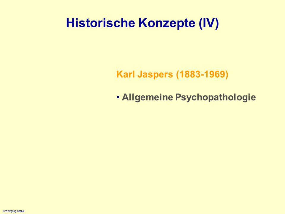 Historische Konzepte (IV)