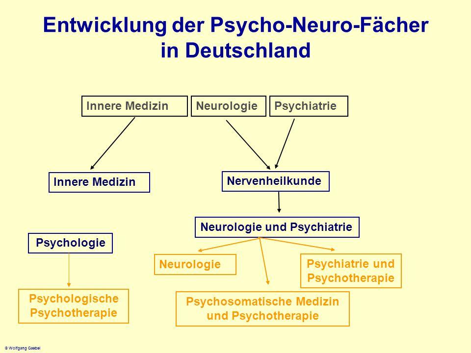 Entwicklung der Psycho-Neuro-Fächer in Deutschland