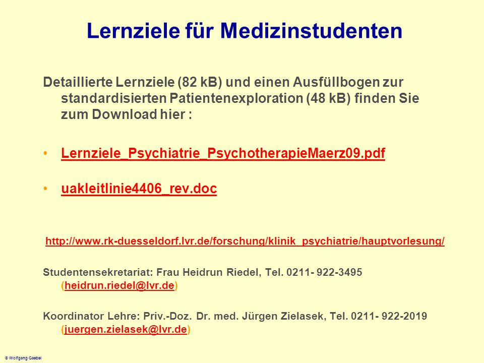 Lernziele für Medizinstudenten