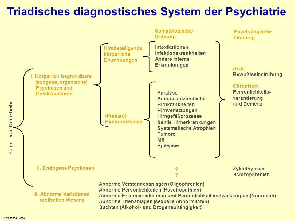 Triadisches diagnostisches System der Psychiatrie
