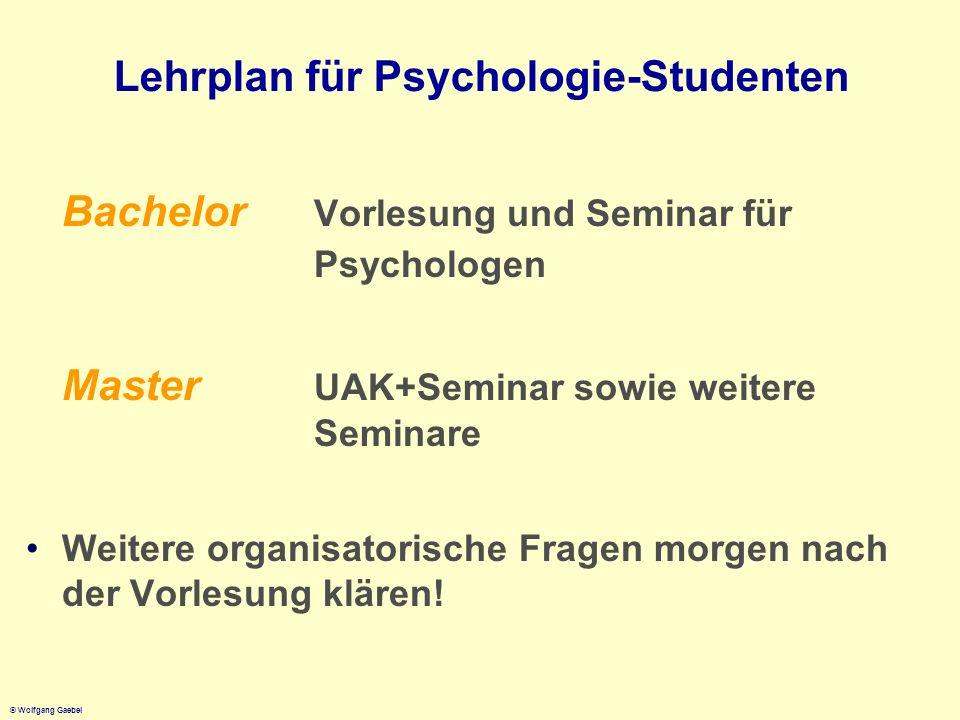 Lehrplan für Psychologie-Studenten