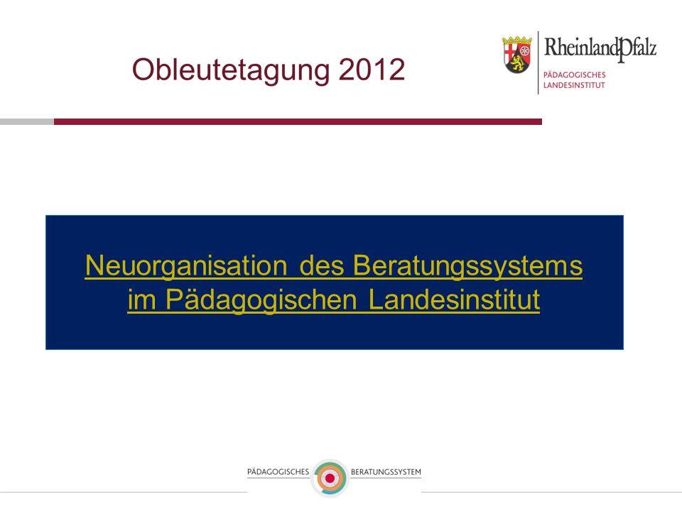Neuorganisation des Beratungssystems im Pädagogischen Landesinstitut