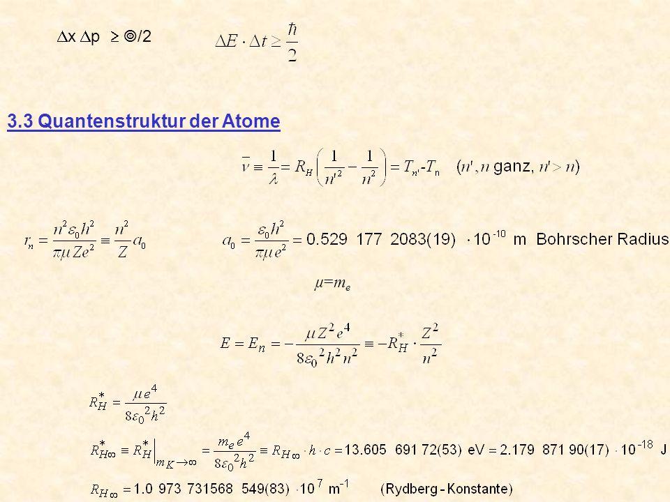 3.3 Quantenstruktur der Atome