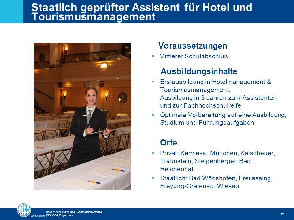Staatlich geprüfter Assistent für Hotel und Tourismusmanagement