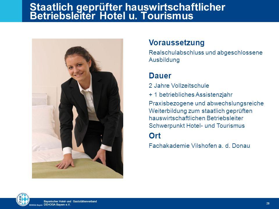 Staatlich geprüfter hauswirtschaftlicher Betriebsleiter Hotel u