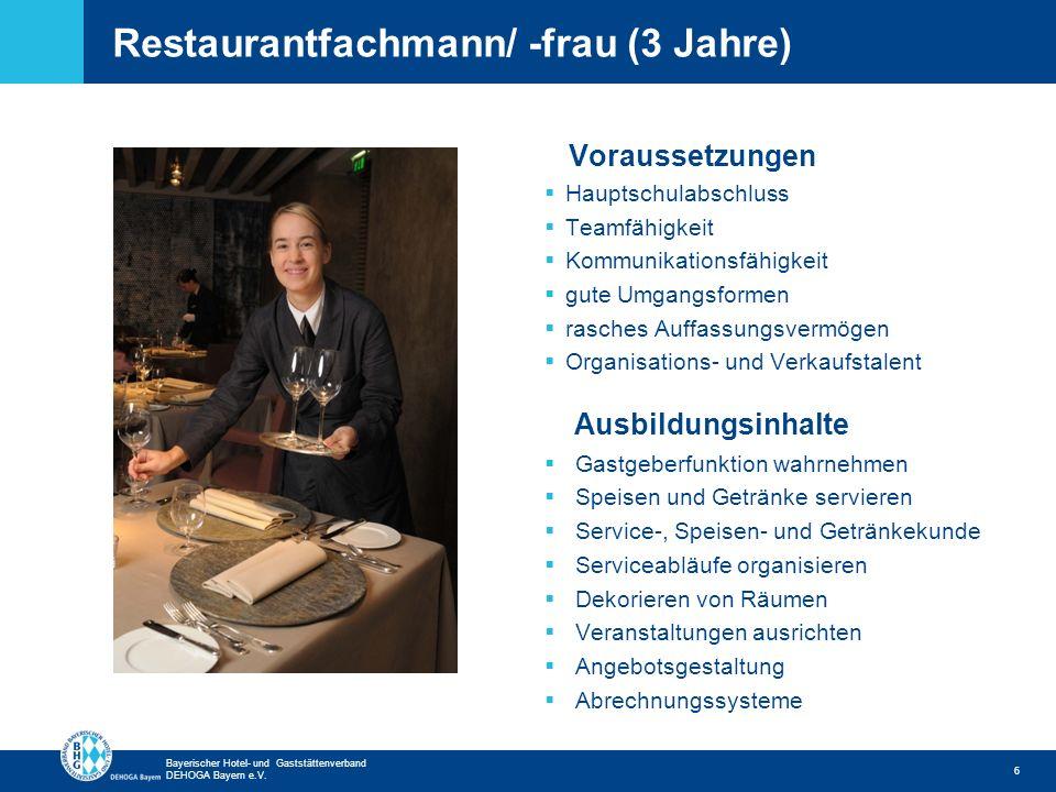 Restaurantfachmann/ -frau (3 Jahre)