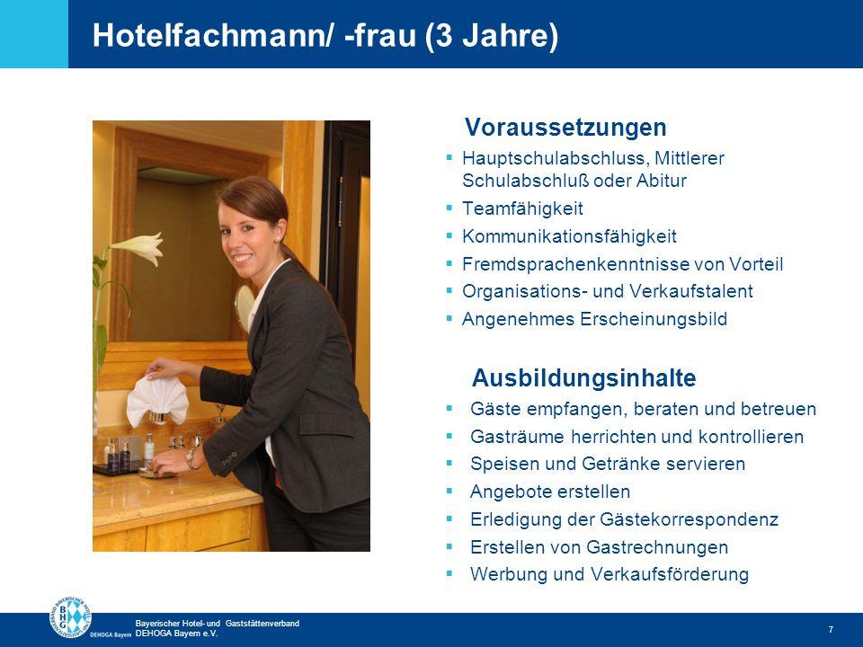 Hotelfachmann/ -frau (3 Jahre)