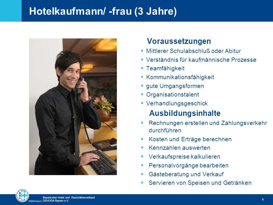 Hotelkaufmann/ -frau (3 Jahre)