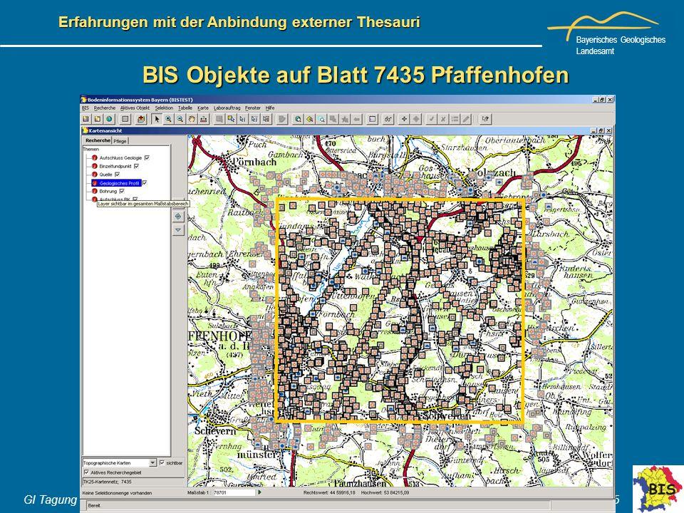 BIS Objekte auf Blatt 7435 Pfaffenhofen