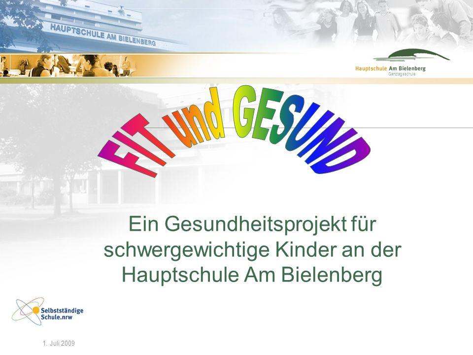 Ganztagsschule FIT und GESUND. Ein Gesundheitsprojekt für schwergewichtige Kinder an der Hauptschule Am Bielenberg.
