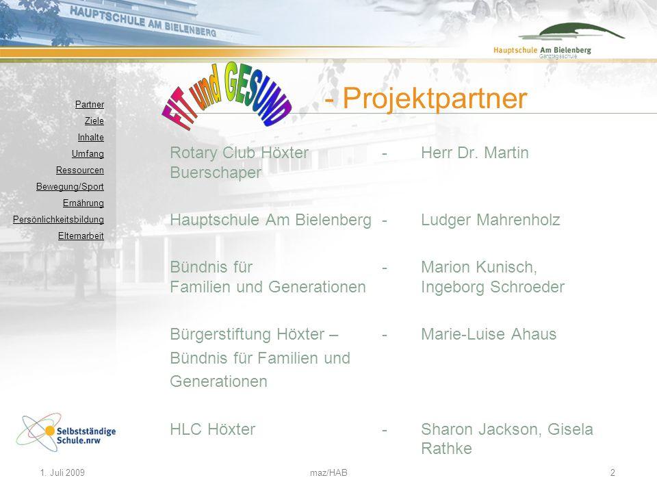 FIT und GESUND - Projektpartner