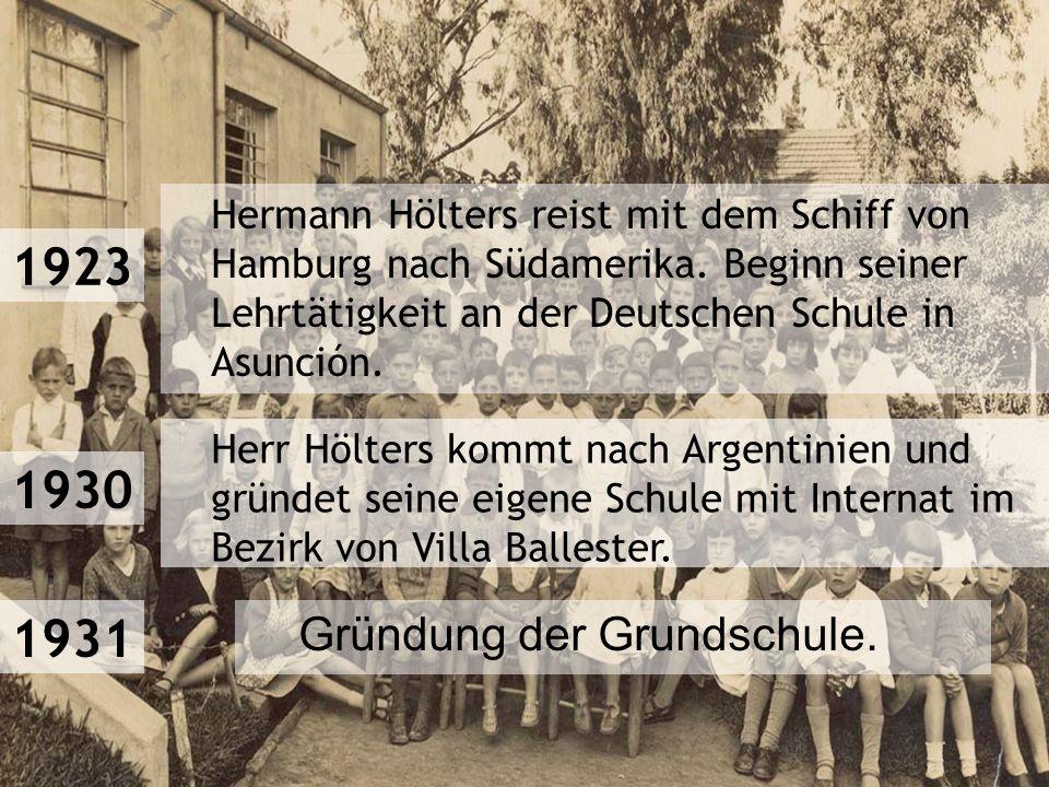 Hermann Hölters reist mit dem Schiff von Hamburg nach Südamerika