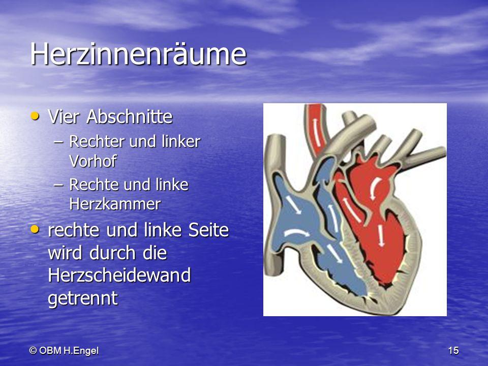 Herzinnenräume Vier Abschnitte