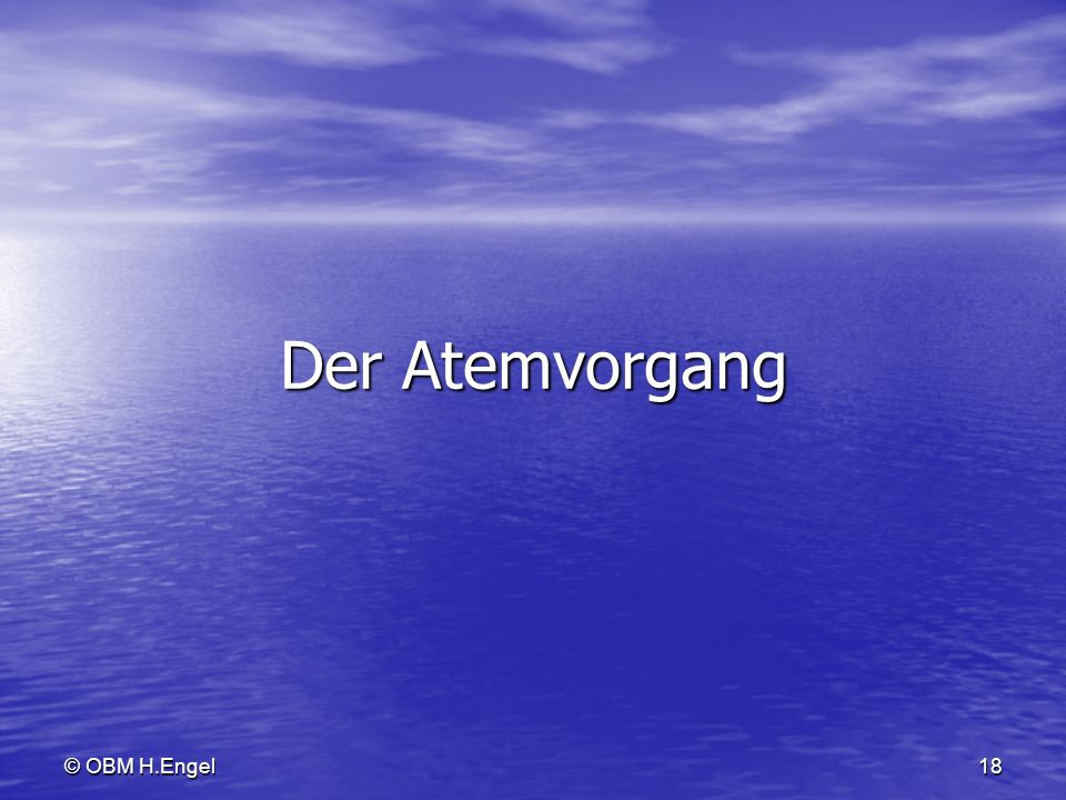 Der Atemvorgang © OBM H.Engel