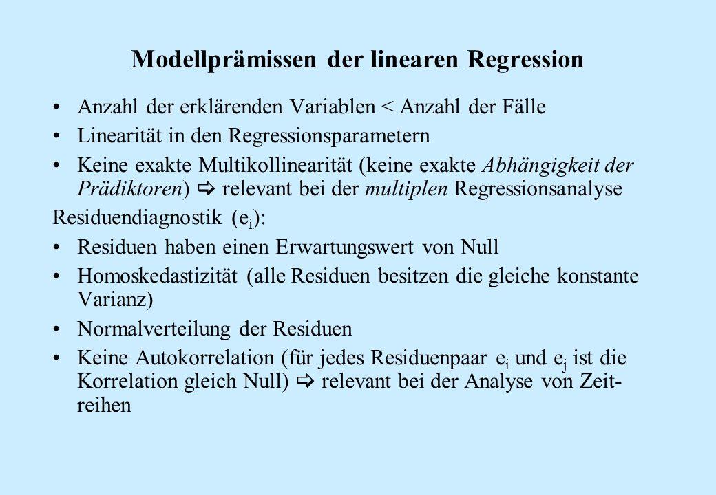 Modellprämissen der linearen Regression