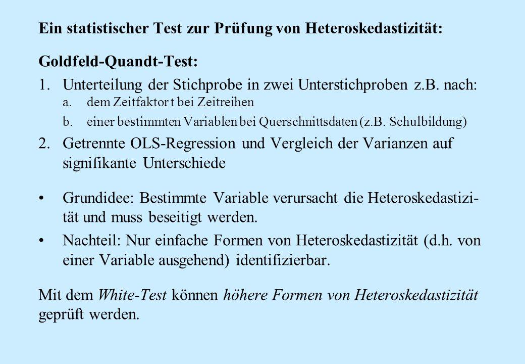 Ein statistischer Test zur Prüfung von Heteroskedastizität:
