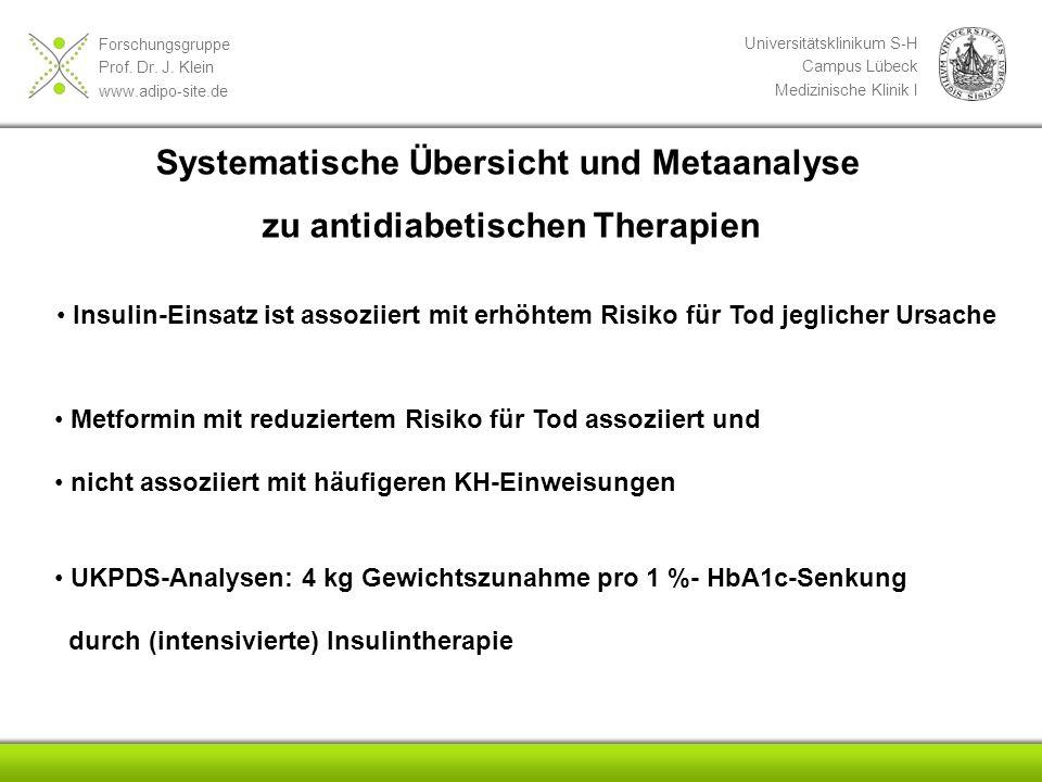 Systematische Übersicht und Metaanalyse zu antidiabetischen Therapien