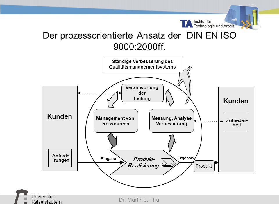 Der prozessorientierte Ansatz der DIN EN ISO 9000:2000ff.