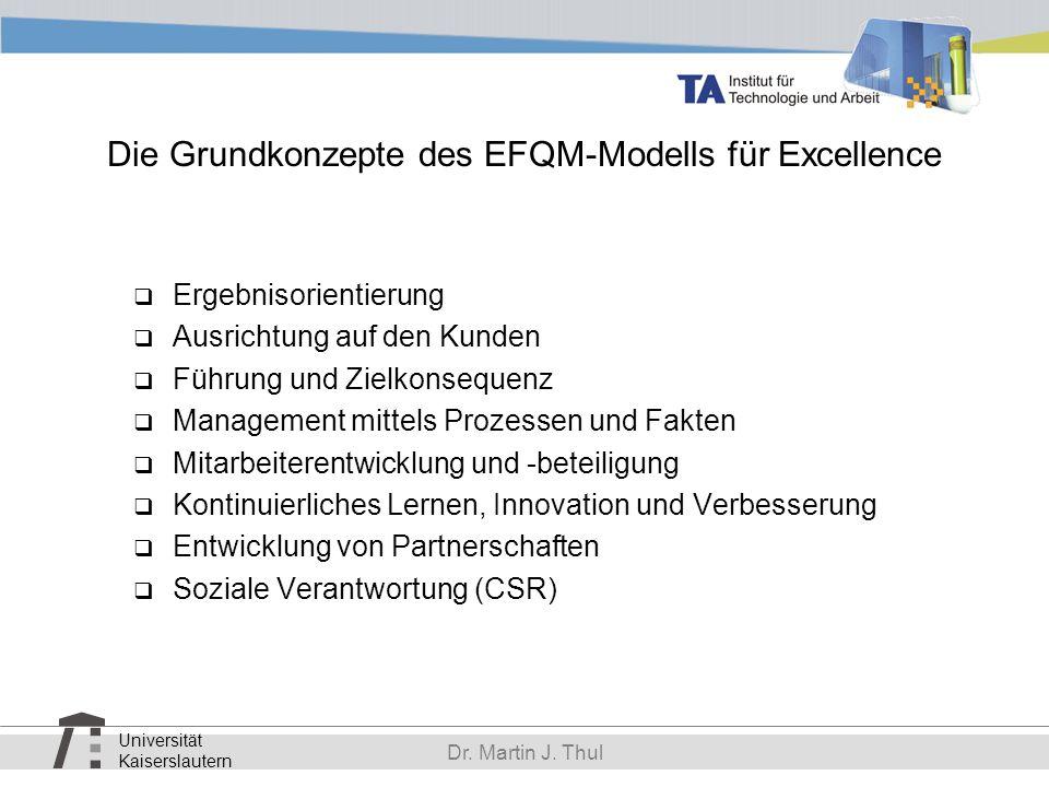Die Grundkonzepte des EFQM-Modells für Excellence