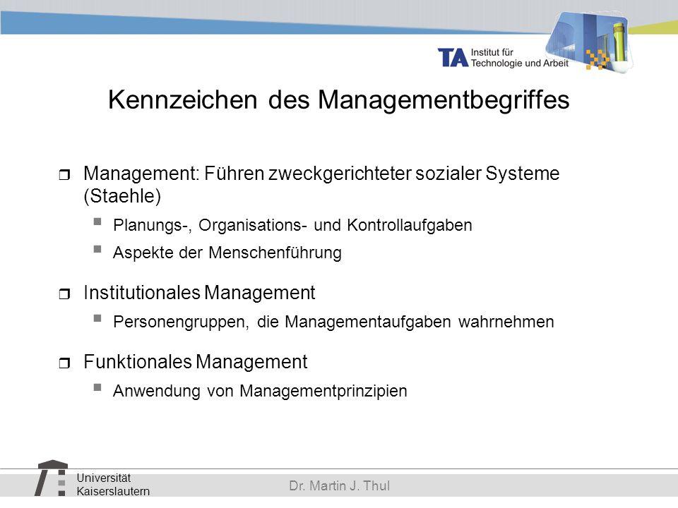 Kennzeichen des Managementbegriffes