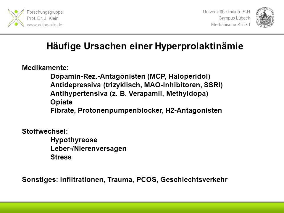 Häufige Ursachen einer Hyperprolaktinämie