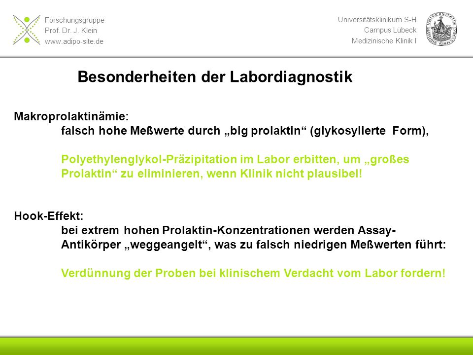Besonderheiten der Labordiagnostik