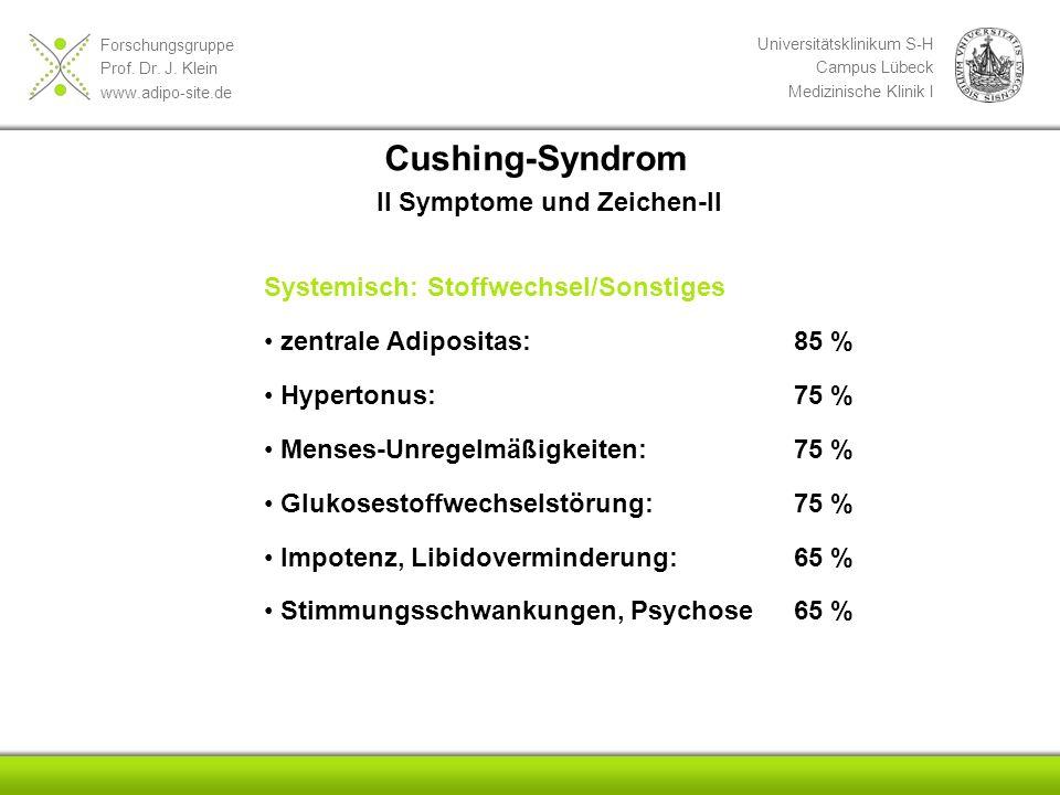 Cushing-Syndrom II Symptome und Zeichen-II