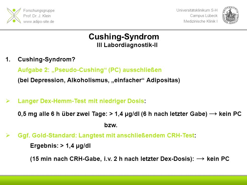 Cushing-Syndrom III Labordiagnostik-II Cushing-Syndrom