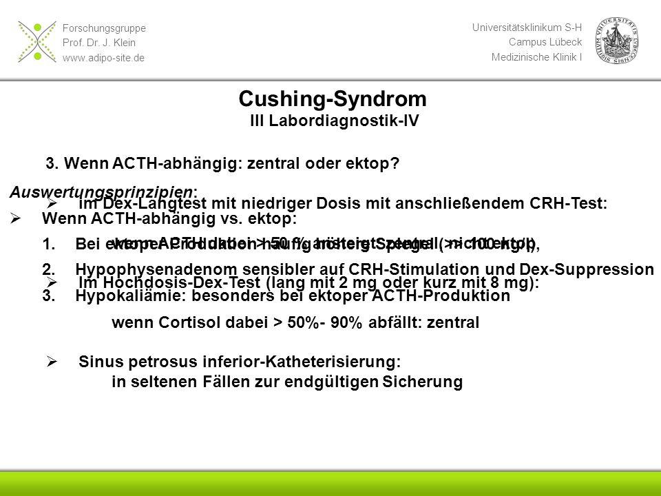 Cushing-Syndrom III Labordiagnostik-IV