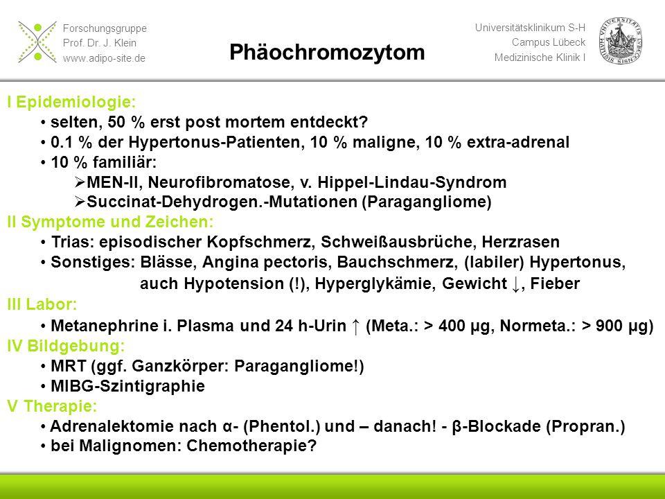 Phäochromozytom I Epidemiologie: