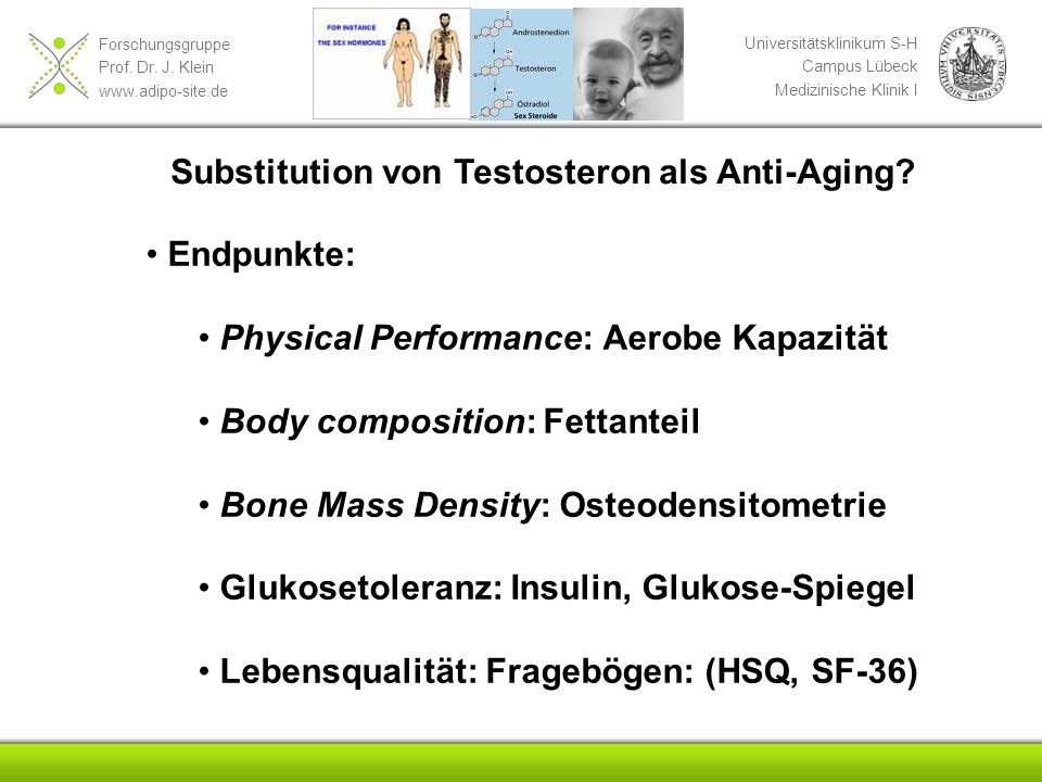 Substitution von Testosteron als Anti-Aging